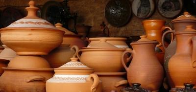 Ukrainian wedding and Ukrainian ceramics. Oposhnya - Budishcha - Poltava